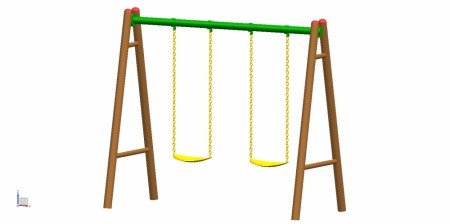 Best 2 Seater A Swing - Swings Manufacturer in Delhi NCR