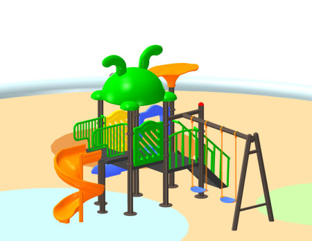 Best Fun N Slide Playcentre - School Outdoor Play Equipments Manufacturer in Delhi NCR