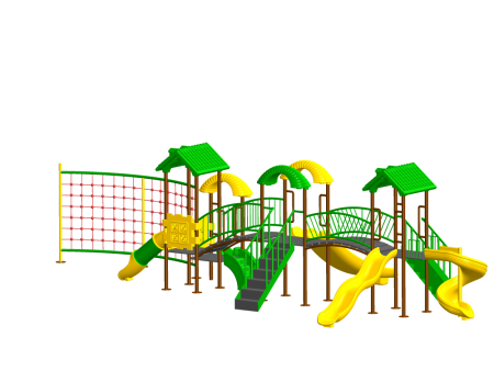 Best Jungle Rumble Playzone - School Outdoor Play Equipments Manufacturer in Delhi NCR