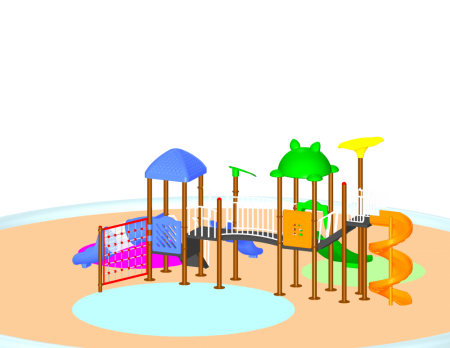 Best Parkland Adventure Centre Sr. - School Outdoor Play Equipments Manufacturer in Delhi NCR