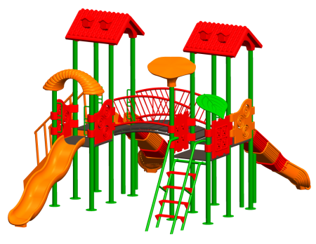 Best Tree House Playcentre - School Outdoor Play Equipments Manufacturer in Delhi NCR