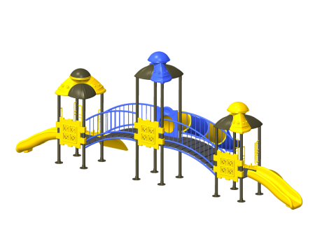 Best Tri House Maxi Playcentre - Pre-School Outdoor Play Equipments Manufacturer in Delhi NCR