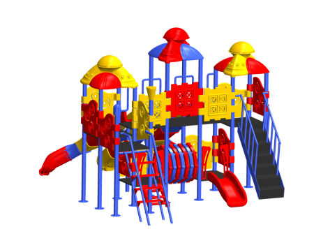 Best Wavy Slide Combo Playzone - School Outdoor Play Equipments Manufacturer in Delhi NCR