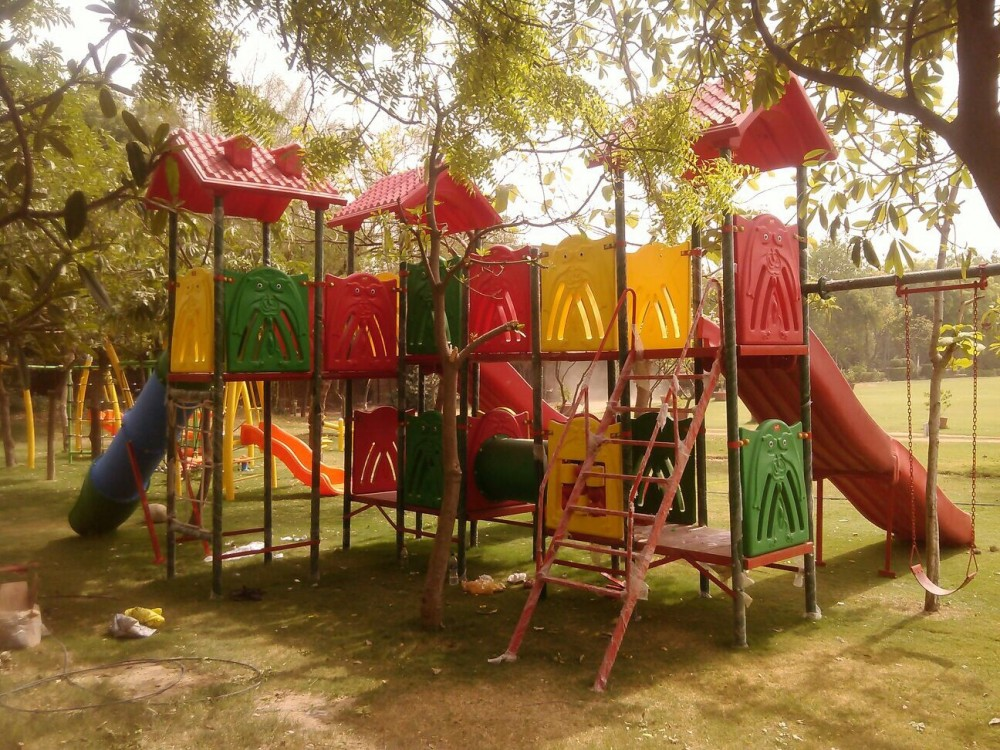 Play Equipment installation in School playground