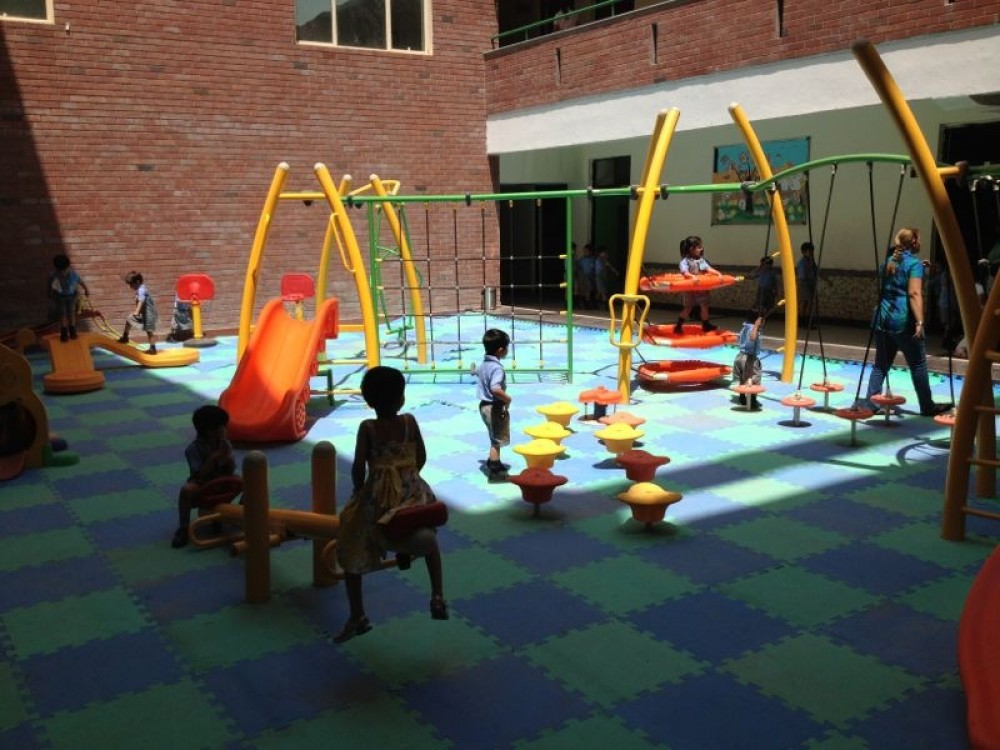 A play area with See Saw