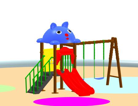 Fun Swing N Slide - School Outdoor Play Equipments in Delhi NCR