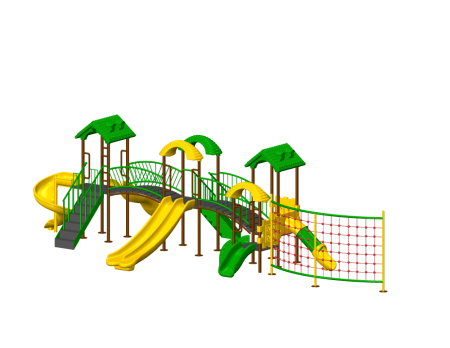Jungle Rumble Playzone - School Outdoor Play Equipments in Delhi NCR