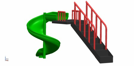 Best Spiral Slide  - SlidesManufacturer in Delhi NCR