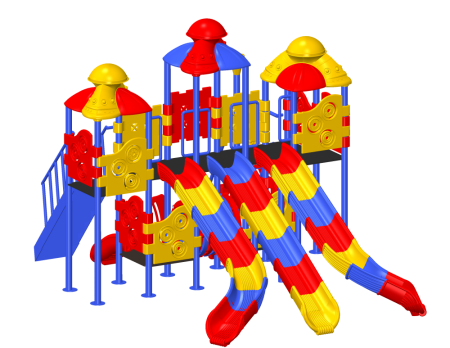 Wavy Slide Combo Playzone - School Outdoor Play Equipments in Delhi NCR